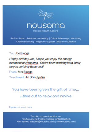 Nousoma Gift Certificate